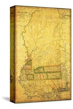 Mississippi - Panoramic Map by Lantern Press