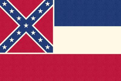 Mississippi State Flag by Lantern Press