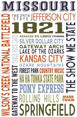 Missouri - Typography by Lantern Press