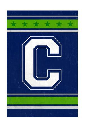 Monogram - Game Day - Blue and Green - C by Lantern Press