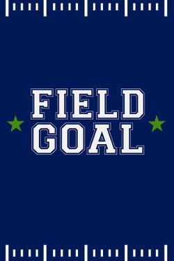 Monogram - Game Day - Blue and Green - Field Goal by Lantern Press