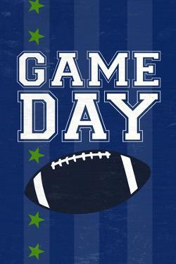 Monogram - Game Day - Blue and Green - Game Day by Lantern Press