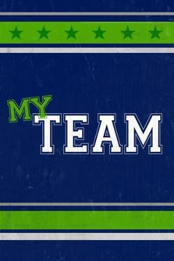 Monogram - Game Day - Blue and Green - My Team by Lantern Press