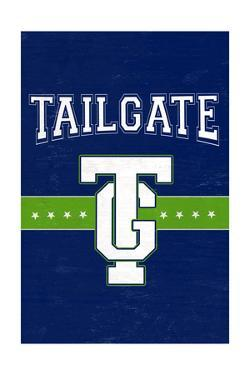 Monogram - Game Day - Blue and Green - Tailgate by Lantern Press