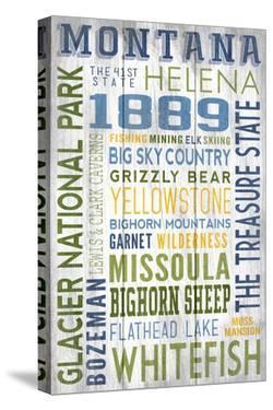Montana - Barnwood Typography by Lantern Press