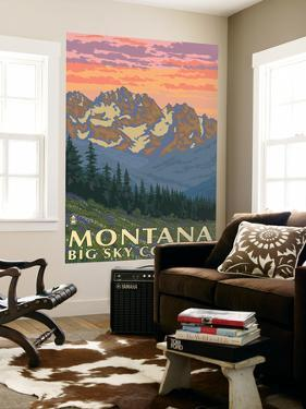 Montana - Big Sky Country - Spring Flowers, c.2008 by Lantern Press
