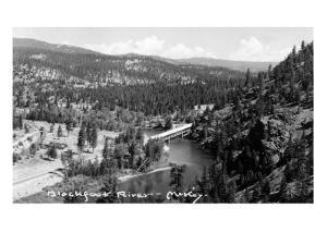 Montana - Blackfoot River by Lantern Press