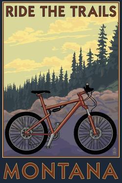 Montana - Ride the Trails by Lantern Press