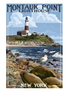 Montauk Point Lighthouse - New York by Lantern Press