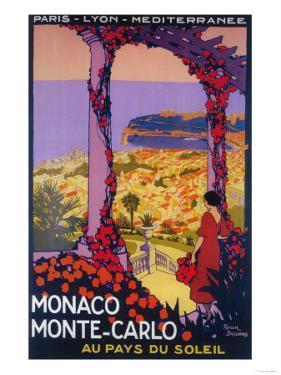 Monte Carlo, Monaco - Travel Promotional Poster by Lantern Press
