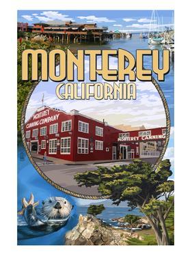 Monterey, California - Montage Scenes by Lantern Press