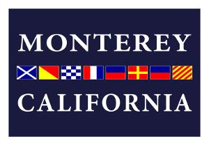 Monterey, California - Nautical Flags by Lantern Press