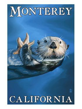 Monterey, California - Sea Otter by Lantern Press