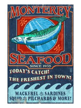 Monterey, California - Seafood by Lantern Press