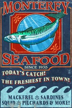 Monterey, California - Seafood by Lantern Press
