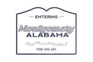 Montgomery, Alabama - Now Entering (Blue) by Lantern Press