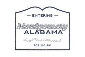 Montgomery, Alabama - Now Entering (Blue) by Lantern Press