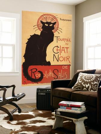 Montmarte, France - Chat Noir Cabaret Troupe Black Cat Promo Poster by Lantern Press