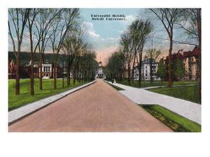 Montreal, Quebec - McGill University Campus Scene by Lantern Press