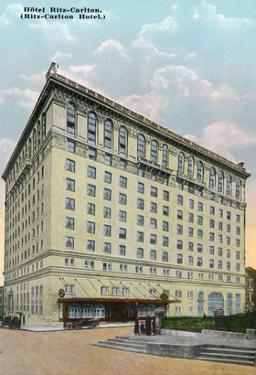 Montreal, Quebec - Ritz-Carlton Hotel Exterior by Lantern Press