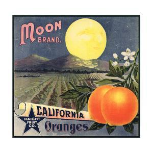 Moon Brand - California - Citrus Crate Label by Lantern Press