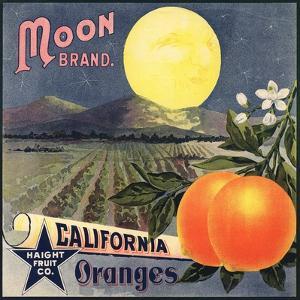 Moon Brand - California - Citrus Crate Label by Lantern Press