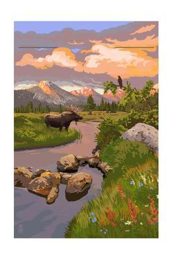 Moose and Meadow by Lantern Press