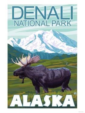 Moose Scene, Denali National Park, Alaska by Lantern Press