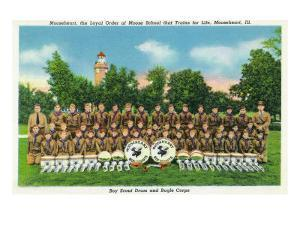 Mooseheart, Illinois, View of the Boy Scout Drum and Bugle Corps by Lantern Press