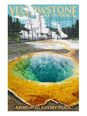 Morning Glory Pool - Yellowstone National Park by Lantern Press