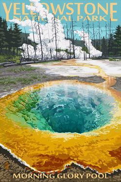 Morning Glory Pool - Yellowstone National Park by Lantern Press