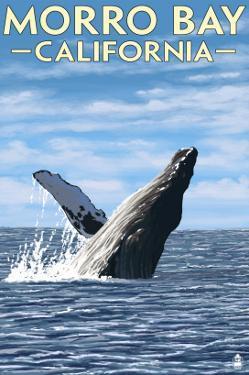 Morro Bay, CA - Humpback Whale by Lantern Press