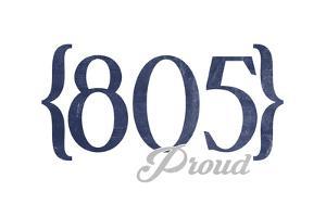 Morro Bay, California - 805 Area Code (Blue) by Lantern Press