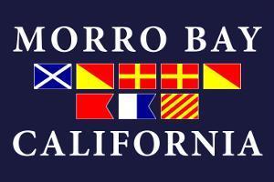 Morro Bay, California - Nautical Flags by Lantern Press