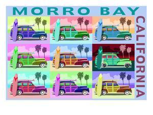 Morro Bay, California - Woody Pop Art by Lantern Press