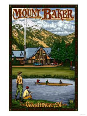 Mount Baker Lodge, Washington by Lantern Press