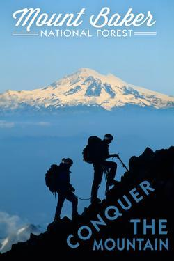Mount Baker National Forest, Washington - Conquer the Mountain by Lantern Press