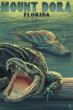 Mount Dora, Florida - Alligators by Lantern Press