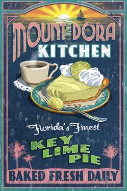 Mount Dora, Florida - Key Lime Pie Sign by Lantern Press