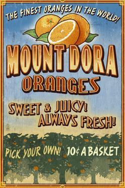Mount Dora, Florida - Orange Orchard Sign by Lantern Press