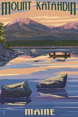Mount Katahdin, Maine by Lantern Press