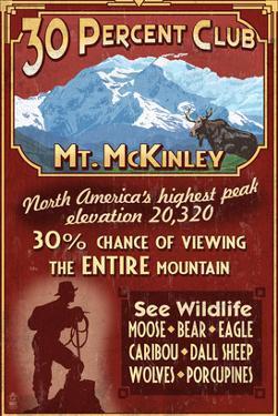 Mount McKinley, Alaska - 30% Club by Lantern Press