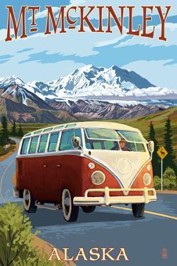 Mount McKinley, Alaska - VW Van by Lantern Press