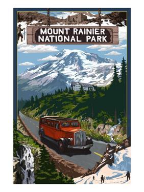 Mount Rainier National Park by Lantern Press