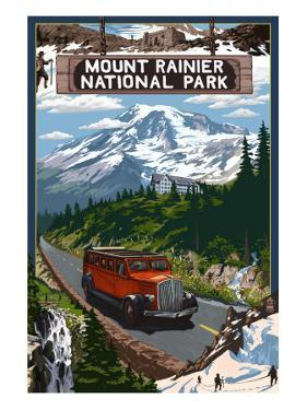 Mount Rainier National Park by Lantern Press