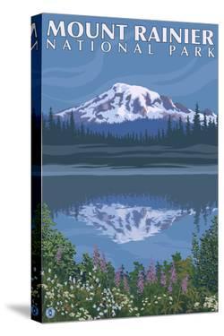 Mount Rainier, Reflection Lake by Lantern Press