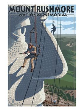 Mount Rushmore National Memorial, South Dakota - Carvers View by Lantern Press