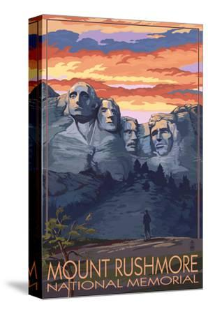 Mount Rushmore National Memorial, South Dakota - Sunset View