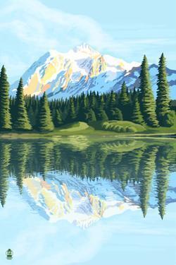 Mount Shuksan (Image Only) by Lantern Press