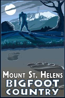 Mount St. Helens - Bigfoot Country by Lantern Press